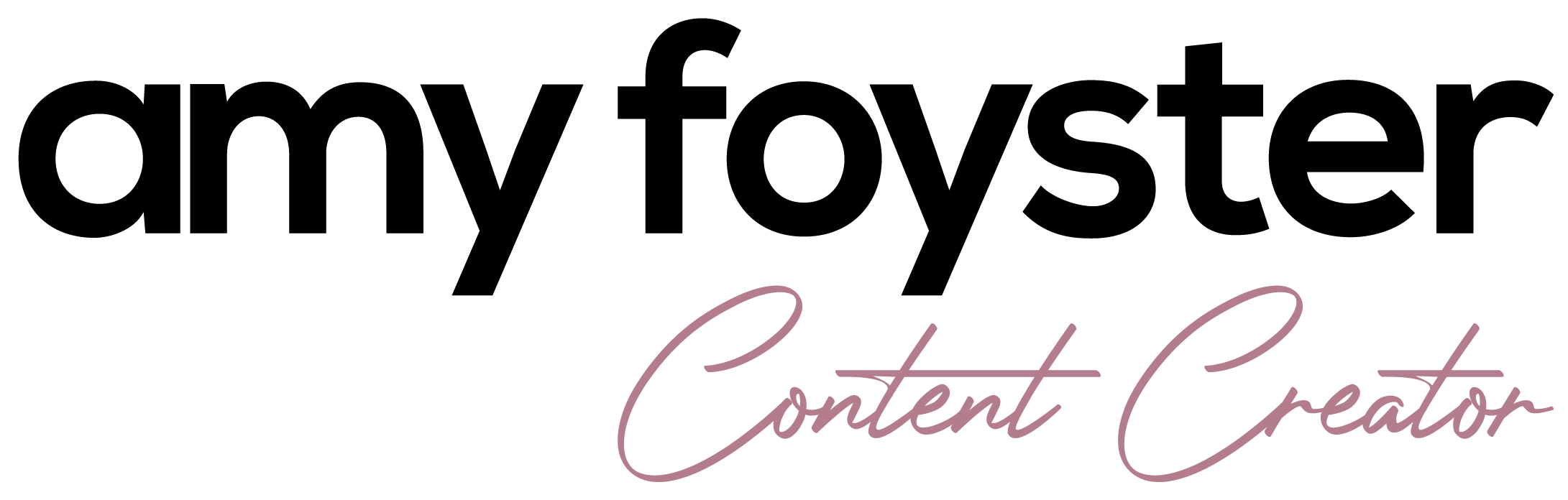 Amy Foyster - Content Creator Logo
